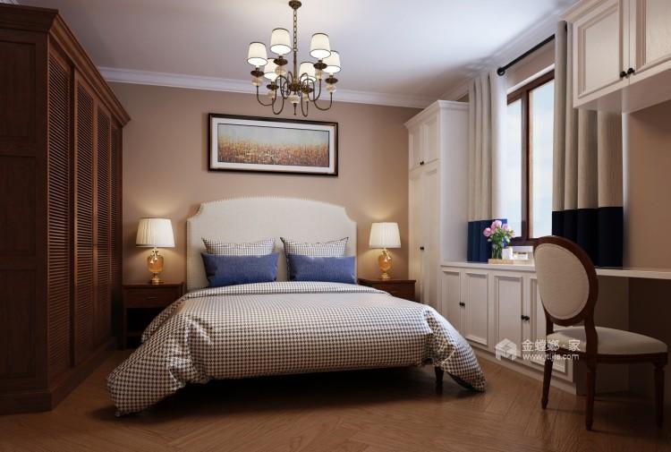 旧房翻新,打造暖意浓浓的美式风-卧室效果图及设计说明