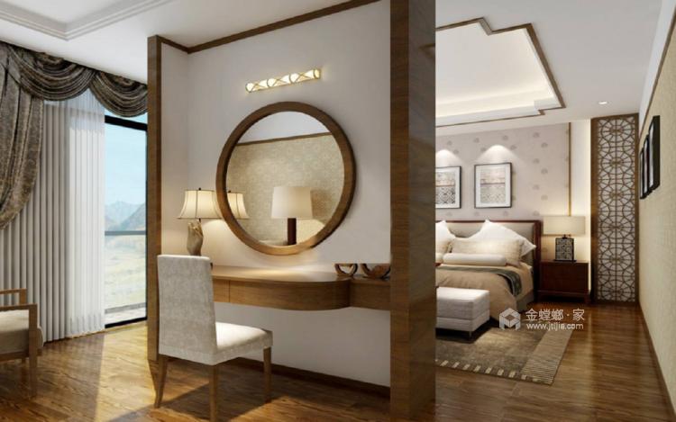 三代同堂四居室,这样的新中式老少皆宜-卧室效果图及设计说明