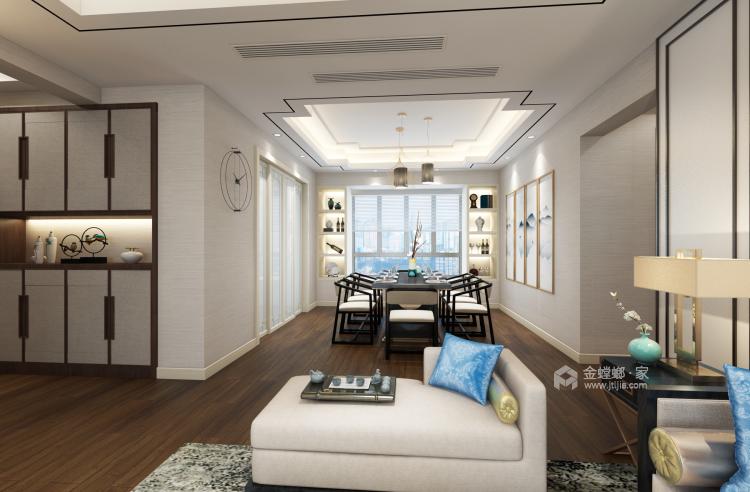 三代同堂四居室,这样的新中式老少皆宜-餐厅效果图及设计说明
