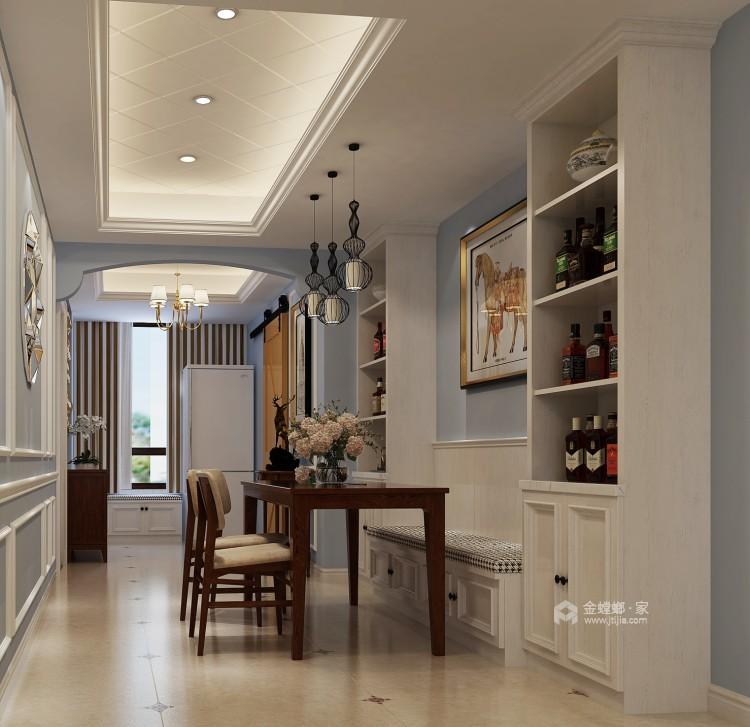 旧房翻新,打造暖意浓浓的美式风-餐厅效果图及设计说明
