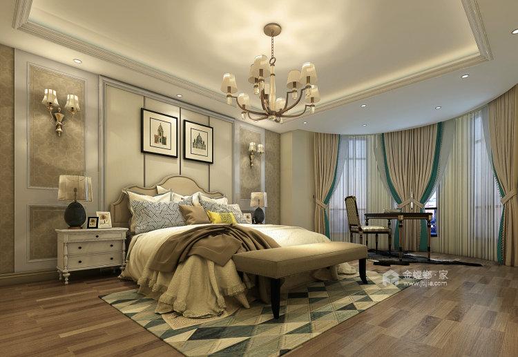 欧式风的交互布局,给两个孩子带来无限生活空间-卧室效果图及设计说明