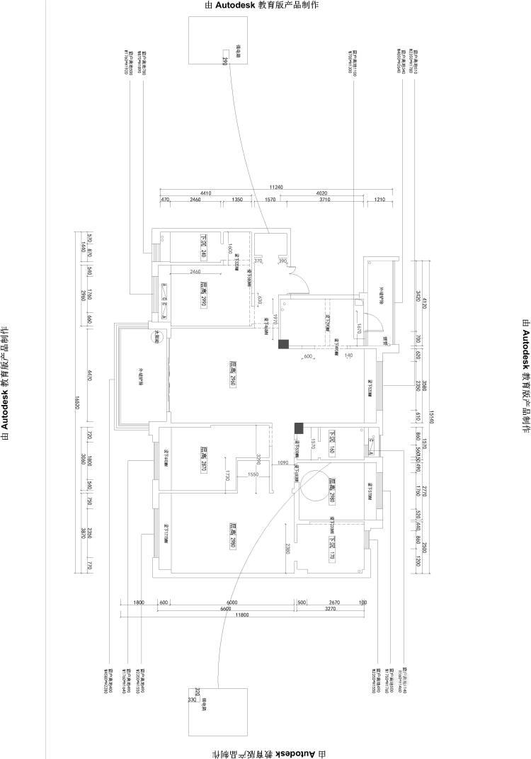 三代同堂四居室,这样的新中式老少皆宜-业主需求&原始结构图