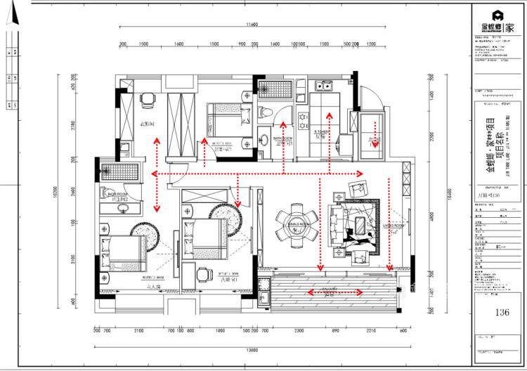 折叠窗+半墙,打造通透开放式书房-平面设计图及设计说明