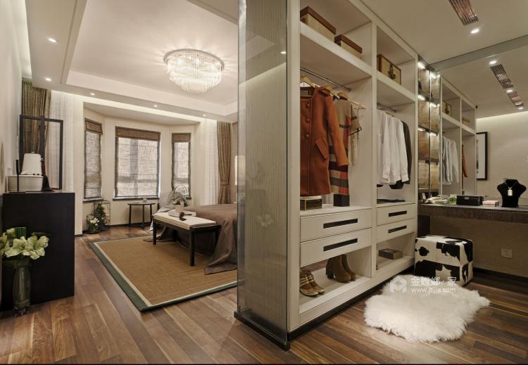 折叠窗+半墙,打造通透开放式书房-卧室效果图及设计说明