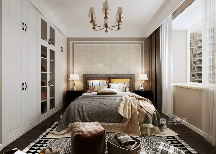 这样装修尽显美式轻奢-卧室效果图及设计说明