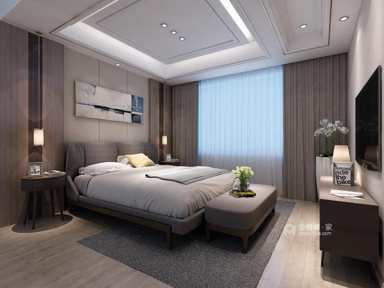 大理石+实木,打造轻快感年轻人的家-卧室效果图及设计说明