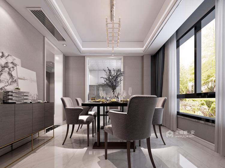 大理石+实木,打造轻快感年轻人的家-餐厅效果图及设计说明
