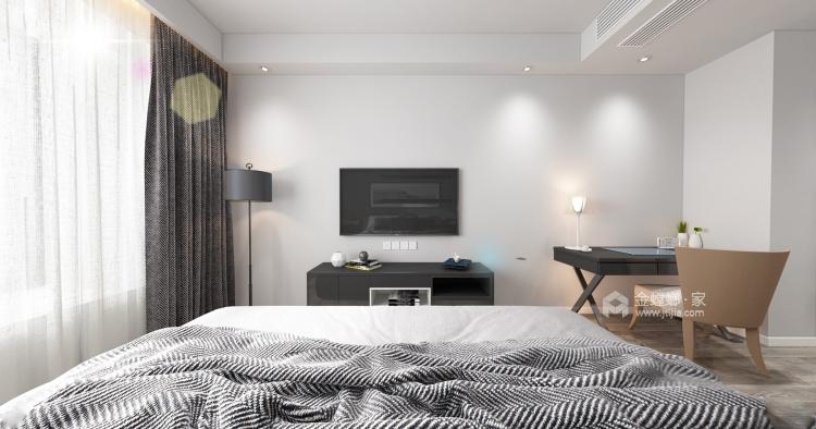 定制柜做电视背景墙,增大收纳效果-卧室效果图及设计说明