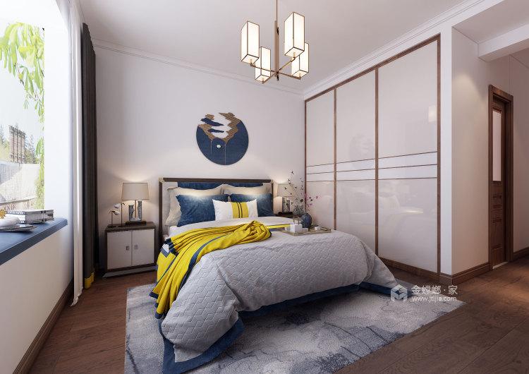 自然触感的原木搭上有中式古典元素,展现东方神韵-卧室效果图及设计说明