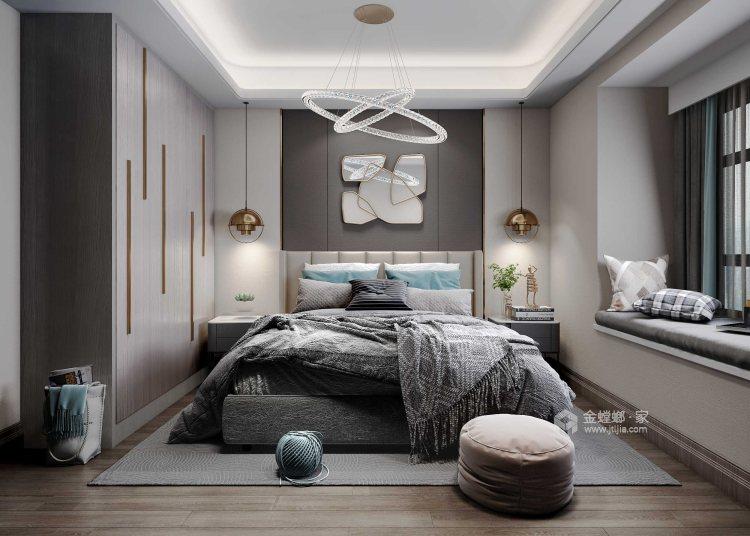 102㎡清新简约风,开放式设计真心敞亮!-卧室效果图及设计说明