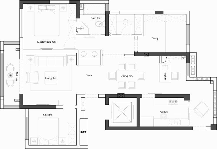 跳跃色彩装点个性化空间-平面设计图及设计说明