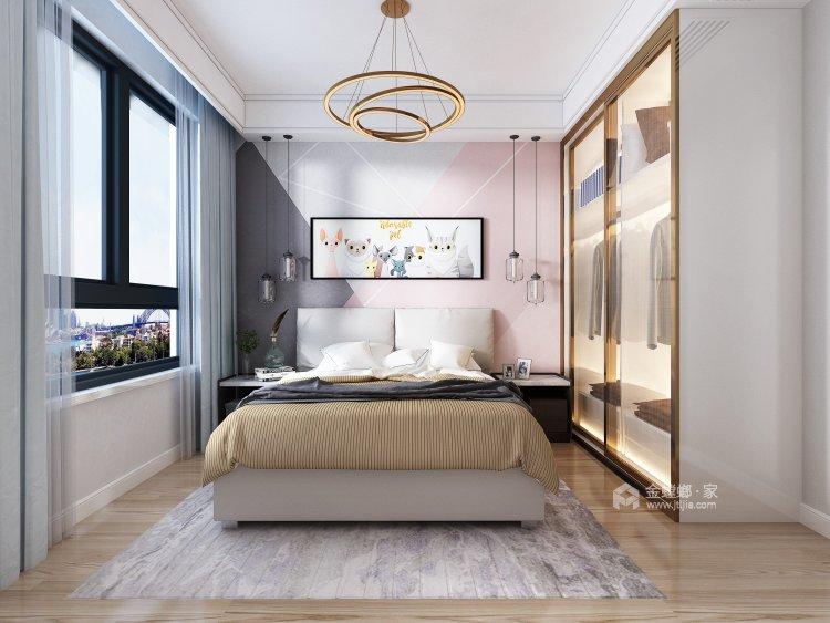 跳跃色彩装点个性化空间-卧室效果图及设计说明