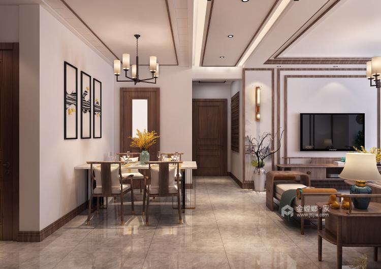 自然触感的原木搭上有中式古典元素,展现东方神韵-餐厅效果图及设计说明