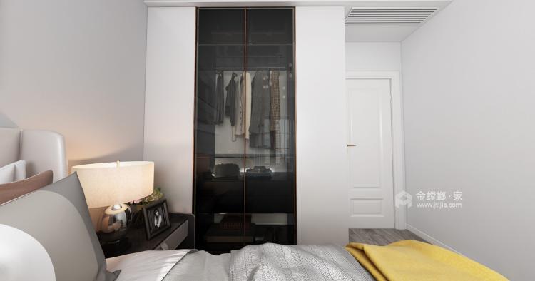 定制柜做电视背景墙,增大收纳效果-卧室