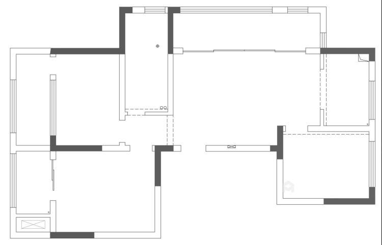 新中式配开放式厨房,这样的装修你见过?-业主需求&原始结构图