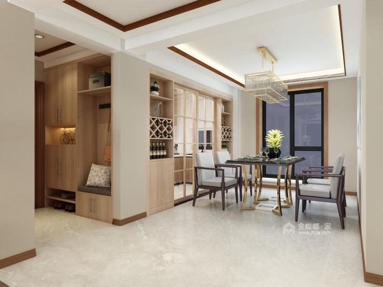 柔和色调,禅韵悠悠,138㎡新中式-餐厅效果图及设计说明