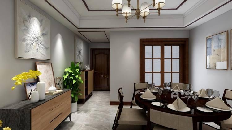 118㎡轻奢新中式,客厅古香古色有韵味-餐厅效果图及设计说明