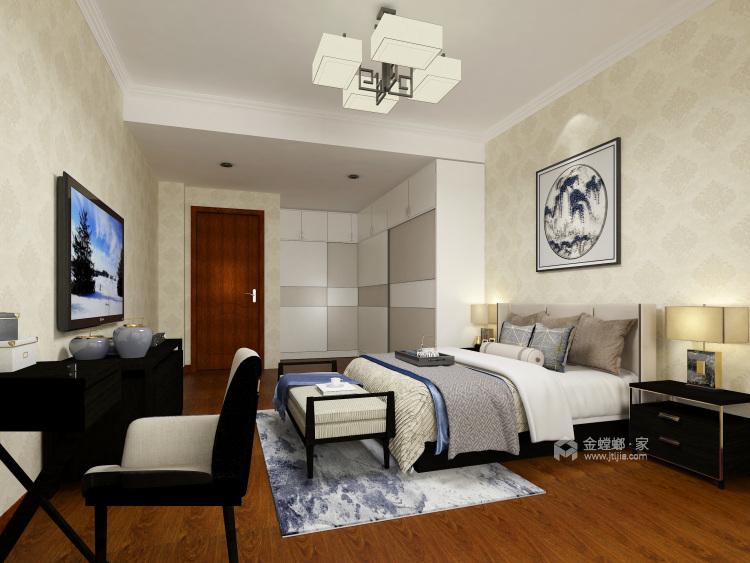 柔和色调,禅韵悠悠,138㎡新中式-卧室效果图及设计说明