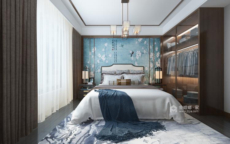 新中式配开放式厨房,这样的装修你见过?-卧室效果图及设计说明