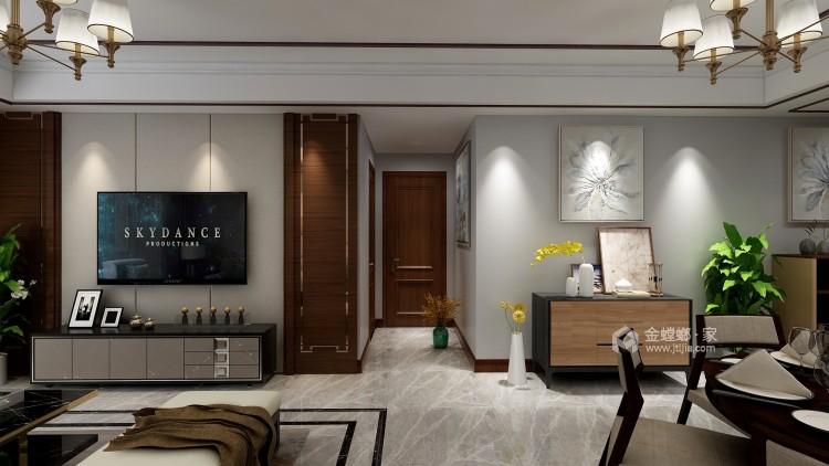118㎡轻奢新中式,客厅古香古色有韵味-客厅效果图及设计说明
