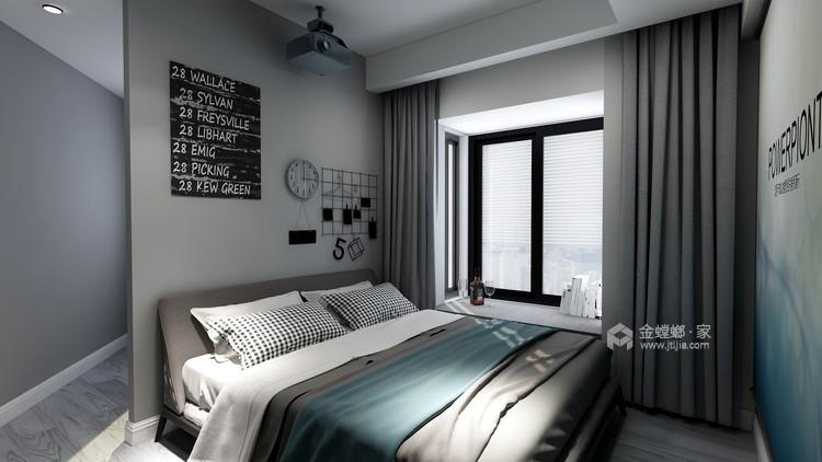 复古硬朗工业风,年轻人的青睐-卧室效果图及设计说明