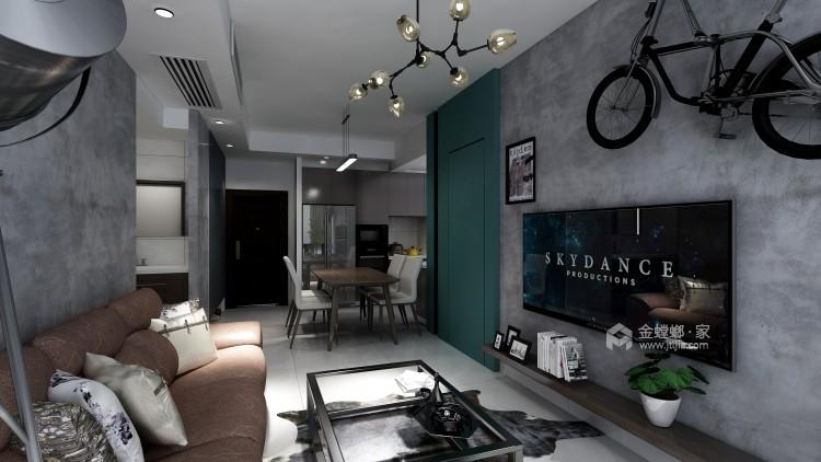 复古硬朗工业风,年轻人的青睐-客厅效果图及设计说明