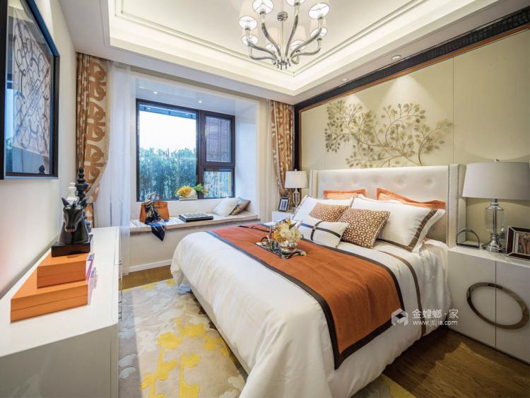 橙色优雅基调,热烈又活力-卧室效果图及设计说明