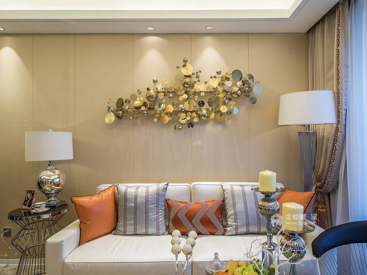 橙色优雅基调,热烈又活力-餐厅效果图及设计说明