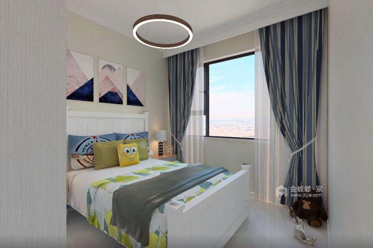 100㎡暖色系空间搭配,温馨十足-卧室效果图及设计说明