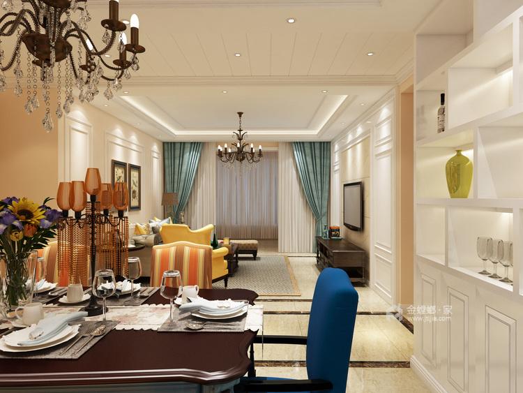主卧配浴缸,这才是生活应有的品质-客厅效果图及设计说明