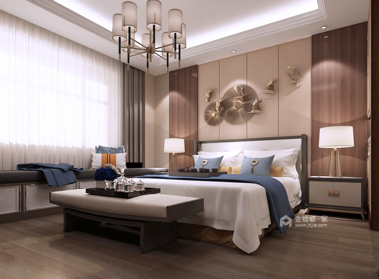 低调大气简约新中式风格,家里看着太舒适了-卧室效果图及设计说明