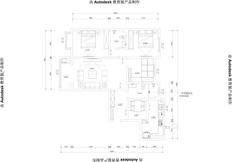 新中式挑高客厅,有格调又不显压抑!-业主需求&原始结构图