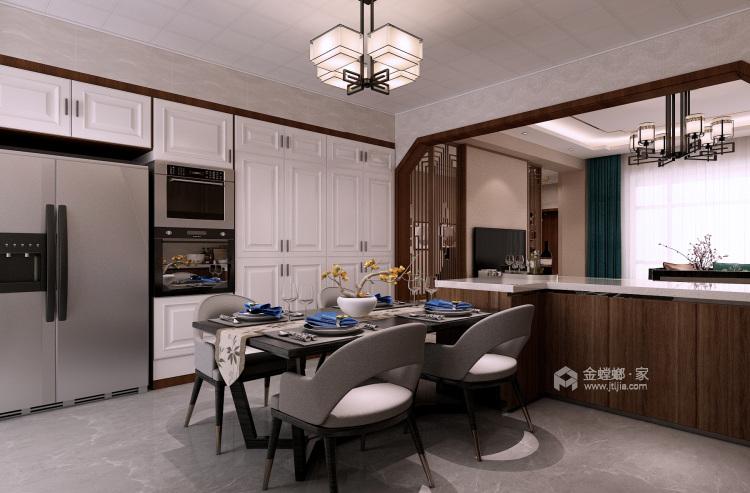 低调大气简约新中式风格,家里看着太舒适了-餐厅效果图及设计说明