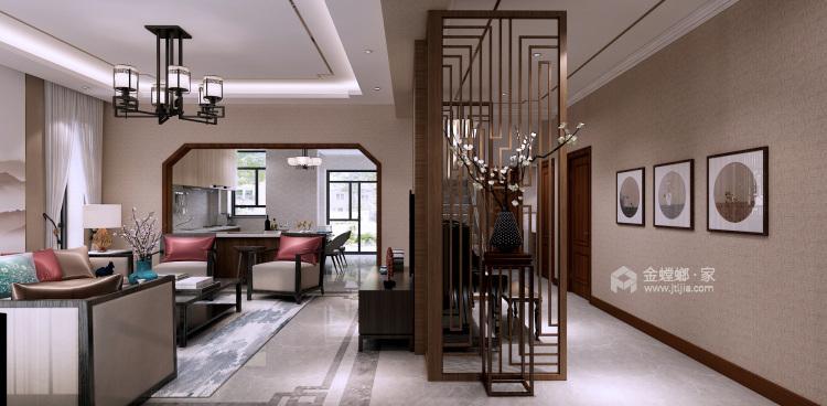 低调大气简约新中式风格,家里看着太舒适了-客厅效果图及设计说明