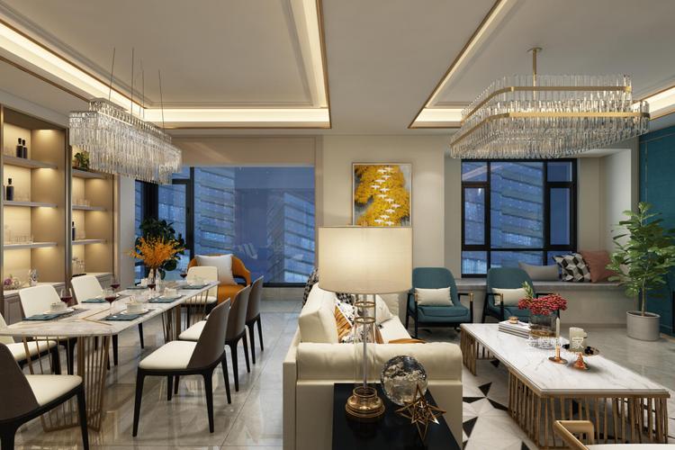 年轻人的现代风格,对宁静追求-客厅效果图及设计说明