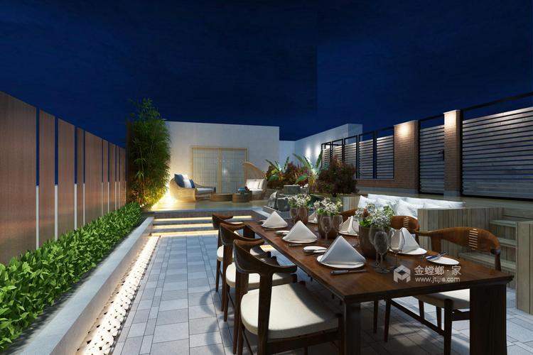 年轻人的现代风格,对宁静追求-餐厅效果图及设计说明