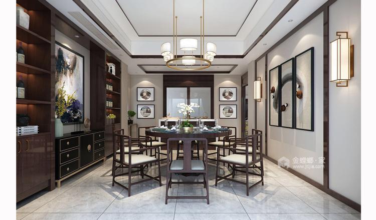 四世同堂5居室,以传统文化为底蕴-餐厅效果图及设计说明