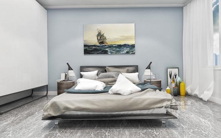 139㎡现代风格,装出不一样的文化砖+饰面板-空间效果图
