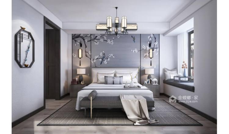 书香门第,去除中式那一抹的厚重感-卧室效果图及设计说明