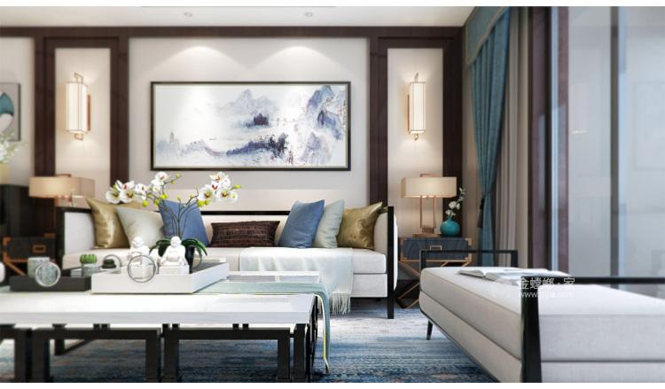 四世同堂5居室,以传统文化为底蕴-客厅效果图及设计说明
