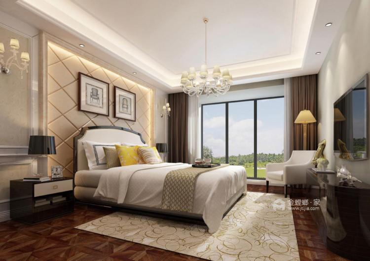 460㎡简约美式风四居,精致有设计感-卧室效果图及设计说明