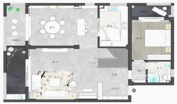 四世同堂5居室,以传统文化为底蕴-平面设计图及设计说明