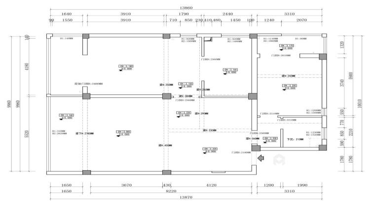 四世同堂5居室,以传统文化为底蕴-业主需求&原始结构图