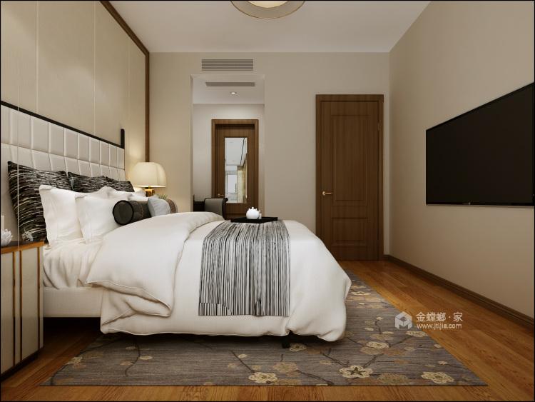 140㎡新中式格调高雅,简朴优美-卧室效果图及设计说明
