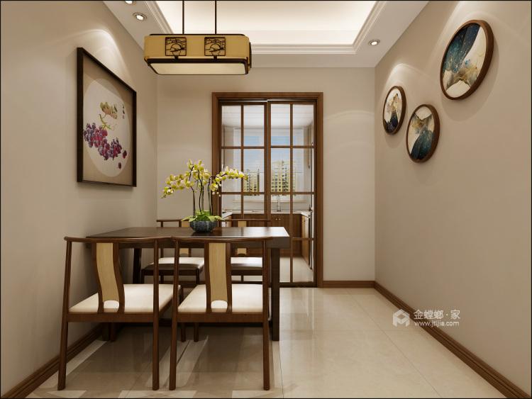 140㎡新中式格调高雅,简朴优美-餐厅效果图及设计说明