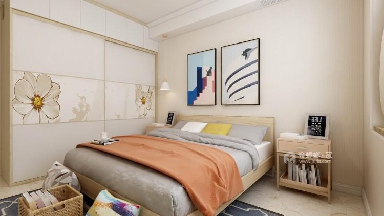 活泼色彩,贴近自然的105㎡北欧风-卧室效果图及设计说明