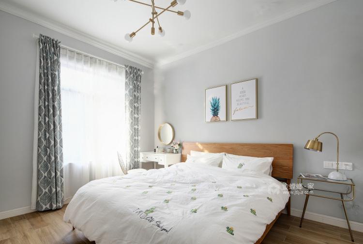 107㎡北欧风,空间明亮又漂亮-卧室效果图及设计说明