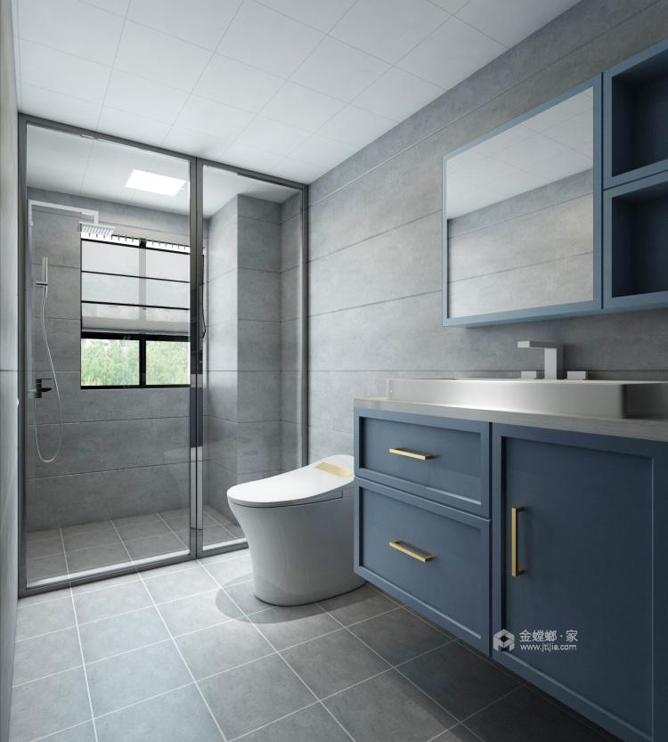 灰蓝色调,打造简约不单调的家-卫生间
