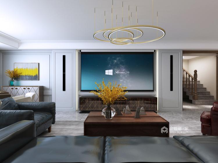 现代简约风,惊喜总是如期而至-客厅效果图及设计说明