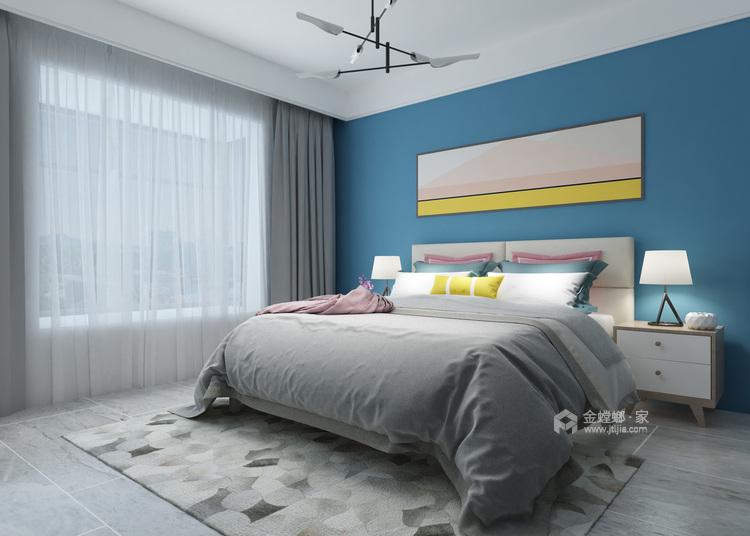 灰蓝色调,打造简约不单调的家-卧室效果图及设计说明